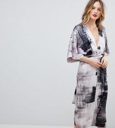 Платье-кимоно с абстрактным принтом ASOS TALL - Мульти