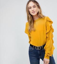 Блузка с оборками Y.A.S Tall Sufia - Желтый