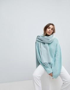 Шерстяной шарф Weekday - Зеленый