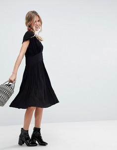 Повседневное чайное платье миди ASOS - Черный