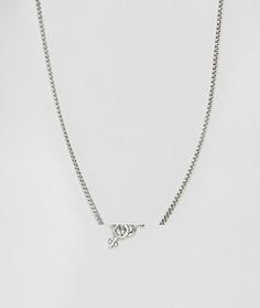 Ожерелье с подвеской ASOS - Серебряный