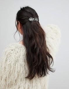 Заколка для волос с отделкой камнями ASOS - Серебряный