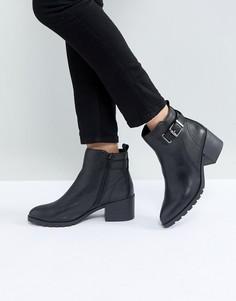 Повседневные кожаные ботинки с подкладкой из искусственного меха ALDO Etelawien - Черный