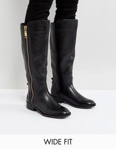 Кожаные повседневные сапоги для широкой стопы ALDO - Черный