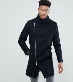 Пальто с асимметричной молнией Religion TALL - Черный