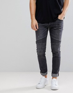 Серые байкерские джинсы Diesel Fourk - Серый