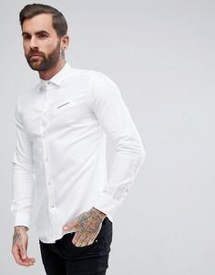 Белая оксфордская рубашка с логотипом Diesel S-HARRAS - Белый