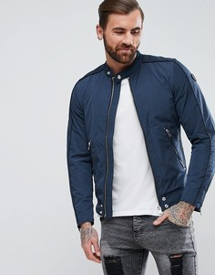 Нейлоновая байкерская куртка Diesel J-QUAD - Темно-синий