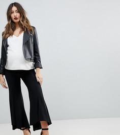 Мягкие брюки с легким клешем ASOS MATERNITY Tailored - Черный