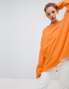 Вязаный джемпер с рукавами летучая мышь Weekday - Оранжевый