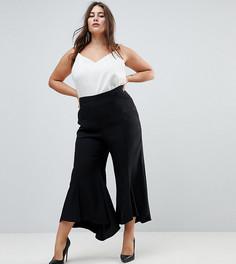 Расклешенные брюки ASOS CURVE Tailored - Черный