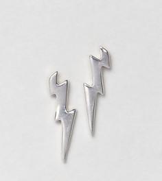 Серебряные серьги с молниями DesignB эксклюзивно для ASOS - Серебряный
