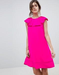 Платье с оборкой на вороте Ted Baker Clarees - Розовый