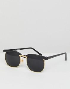 Черные солнцезащитные очки в стиле ретро Reclaimed Vintage - Черный