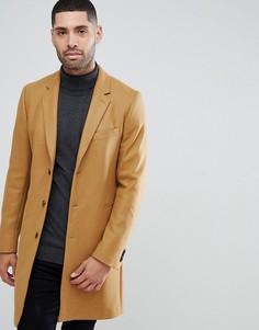 Бежевое пальто из ткани с добавлением шерсти и кашемира PS Paul Smith - Рыжий