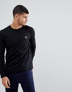Черный лонгслив с логотипом-зеброй PS Paul Smith - Черный