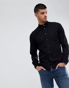 Черная приталенная рубашка PS Paul Smith - Черный