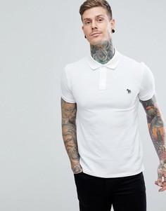 Поло белого цвета узкого кроя с логотипом-зеброй PS Paul Smith - Белый