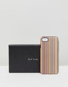 Чехол для iPhone 7 в полоску Paul Smith - Мульти
