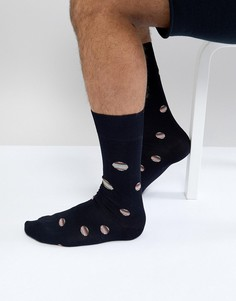 Темно-синие носки в разноцветный горошек Paul Smith - Темно-синий