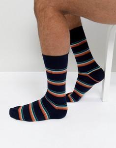 Темно-синие носки с полосками Paul Smith - Темно-синий