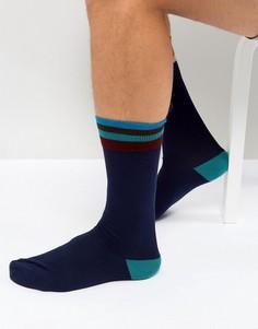 Темно-синие носки с полосками Paul Smith Artist - Темно-синий