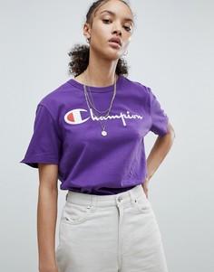 Футболка с логотипом и круглым вырезом Champion - Фиолетовый