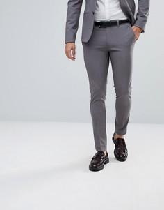 Серые супероблегающие брюки River Island - Серый