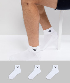Набор из 3 пар белых носков Emporio Armani - Белый
