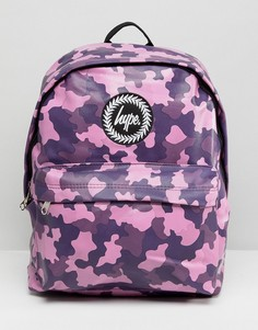 Яркий рюкзак с камуфляжным принтом Hype - Фиолетовый
