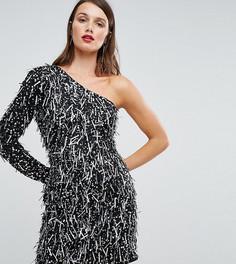 Платье мини на одно плечо с 3D-отделкой A Star Is Born - Черный