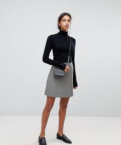 Клетчатая мини-юбка Selected Femme - Мульти