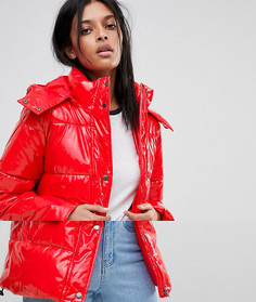 Дутая виниловая куртка Noisy May - Красный