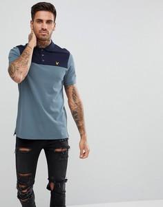 Синяя футболка-поло Lyle & Scott - Синий