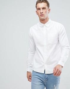 Оксфордская рубашка с длинными рукавами D-Struct - Белый