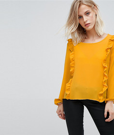 Блузка с оборкой Only - Желтый