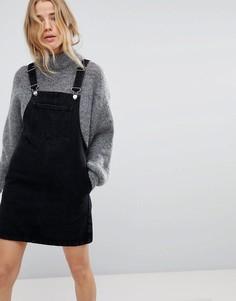 Джинсовое платье-комбинезон Miss Selfridge - Черный