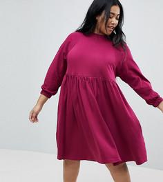 Хлопковое платье ASOS CURVE - Красный