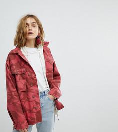 Красная камуфляжная куртка в стиле милитари Reclaimed Vintage Revived - Красный