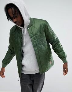 Свободная стеганая куртка Brixton - Зеленый