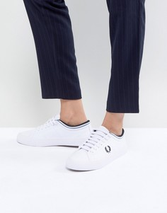 Кожаные кроссовки на шнуровке Fred Perry Kingston - Белый