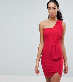 Платье-футляр на одно плечо с бантом Vesper - Красный