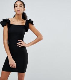 Платье-футляр со складками оригами Vesper - Черный