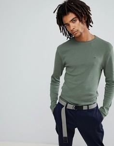 Зеленый лонгслив с логотипом Tommy Jeans - Зеленый Hilfiger Denim