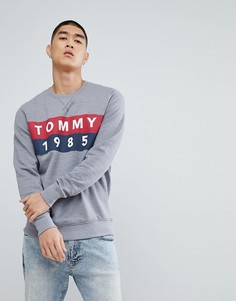 Серый меланжевый свитшот с логотипом Tommy Jeans - Серый Hilfiger Denim