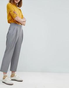 Укороченные зауженные брюки ASOS Tailored - Серый