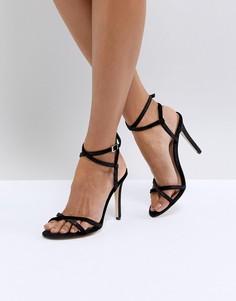 Легкие босоножки на каблуке с ремешками Call It Spring - Черный