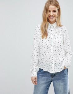 Свободная блузка в горошек Glamorous - Белый