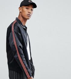 Атласная куртка на молнии Reclaimed Vintage Inspired - Черный