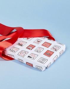 Бумага для упаковки подарков на День св. Валентина с принтом котов Ohh Deer - Мульти